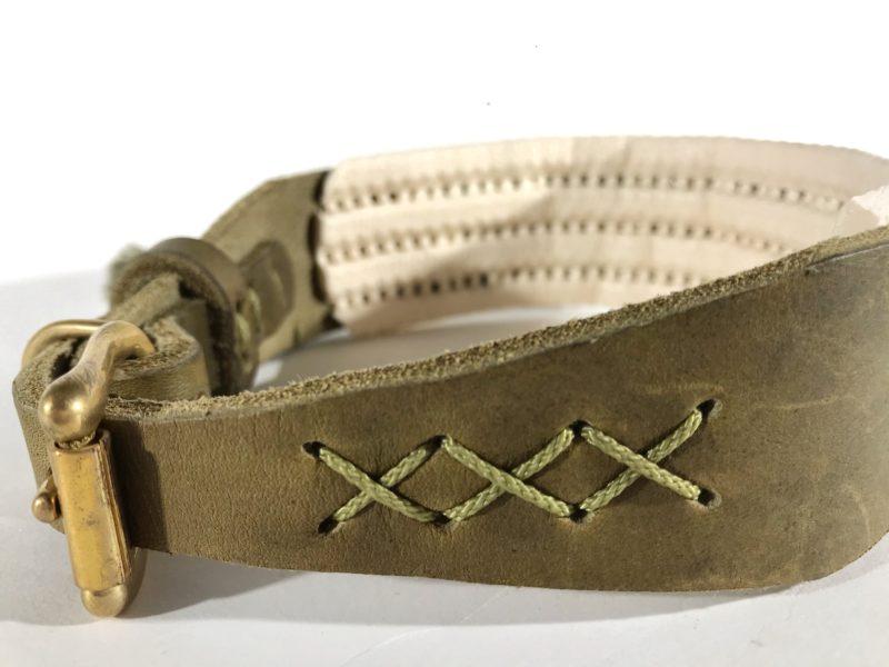 windhund halsband aus fettleder und mit polsterung