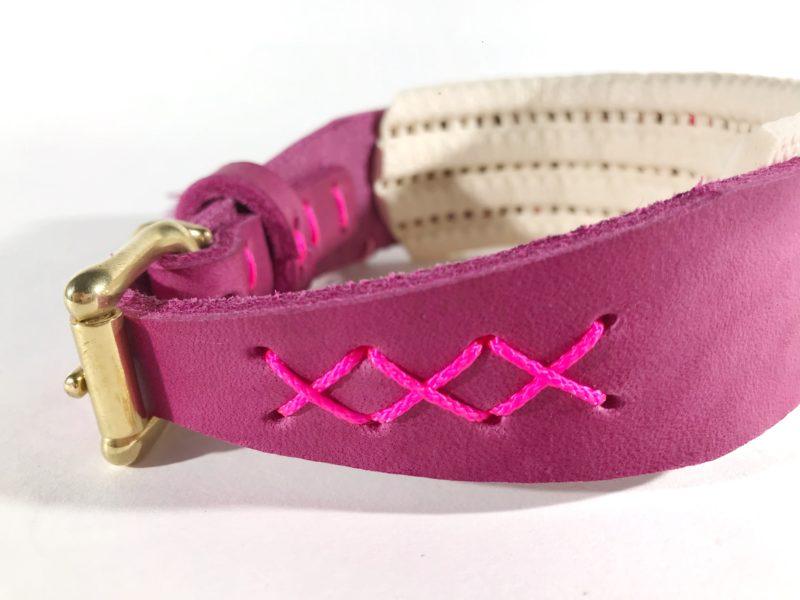 windhund halsband fettleder farbenfroh mit polster