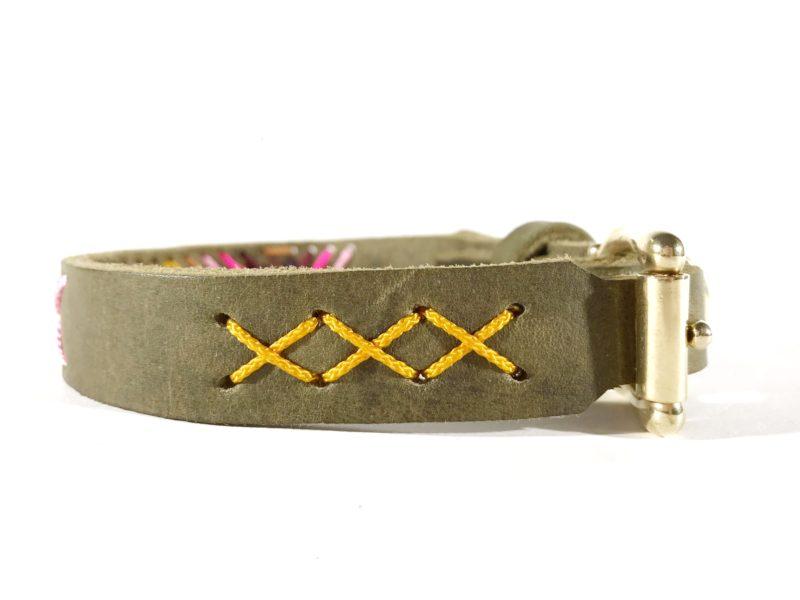 halsband fettleder ethno style hochwertig individuell langlebig